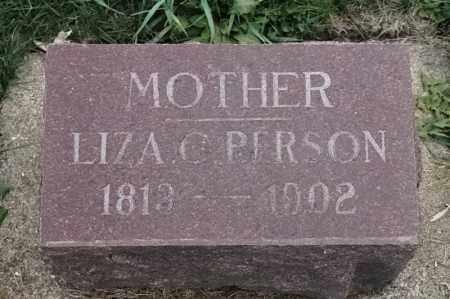 PERSON, LIZA C - Lincoln County, South Dakota   LIZA C PERSON - South Dakota Gravestone Photos