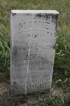 SANDELL, MAMIE - Lincoln County, South Dakota | MAMIE SANDELL - South Dakota Gravestone Photos