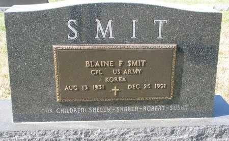 SMIT, BLAINE F. (MILITARY) - Lincoln County, South Dakota | BLAINE F. (MILITARY) SMIT - South Dakota Gravestone Photos
