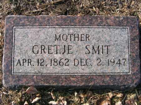 SMIT, GRETJE - Lincoln County, South Dakota | GRETJE SMIT - South Dakota Gravestone Photos