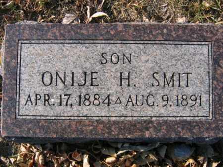 SMIT, ONIJE H - Lincoln County, South Dakota   ONIJE H SMIT - South Dakota Gravestone Photos