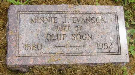 EVANSON SOGN, MINNIE J - Lincoln County, South Dakota | MINNIE J EVANSON SOGN - South Dakota Gravestone Photos