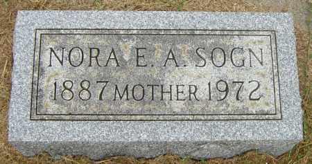 SOGN, NORA E A - Lincoln County, South Dakota | NORA E A SOGN - South Dakota Gravestone Photos