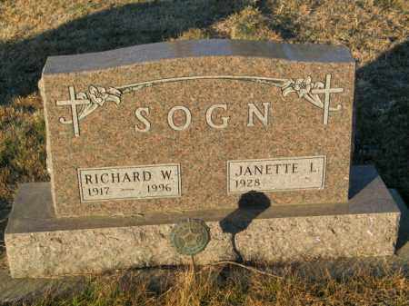 SOGN, JANETTE L - Lincoln County, South Dakota | JANETTE L SOGN - South Dakota Gravestone Photos