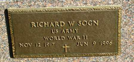 SOGN, RICHARD  W - Lincoln County, South Dakota | RICHARD  W SOGN - South Dakota Gravestone Photos