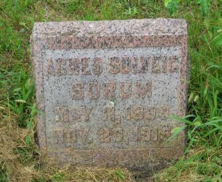 SORUM, AGNES SOLVEIG - Lincoln County, South Dakota   AGNES SOLVEIG SORUM - South Dakota Gravestone Photos