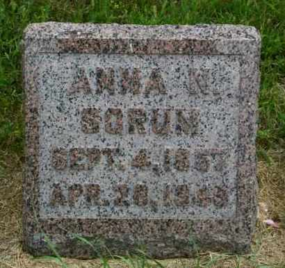 SORUM, ANNA N - Lincoln County, South Dakota   ANNA N SORUM - South Dakota Gravestone Photos