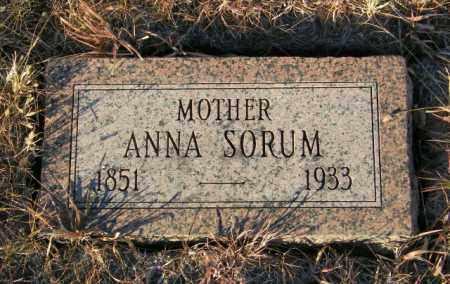 SORUM, ANNA - Lincoln County, South Dakota   ANNA SORUM - South Dakota Gravestone Photos