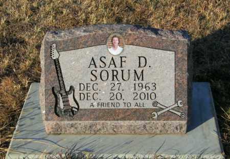 SORUM, ASAF D - Lincoln County, South Dakota | ASAF D SORUM - South Dakota Gravestone Photos