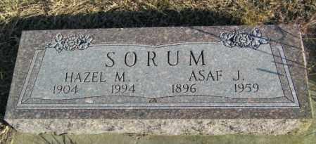 SORUM, ASAF J - Lincoln County, South Dakota | ASAF J SORUM - South Dakota Gravestone Photos