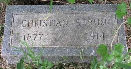 SORUM, CHRISTIAN - Lincoln County, South Dakota | CHRISTIAN SORUM - South Dakota Gravestone Photos
