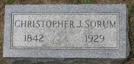 SORUM, CHRISTOPHER J. - Lincoln County, South Dakota | CHRISTOPHER J. SORUM - South Dakota Gravestone Photos