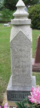 SORUM, CARRIE - Lincoln County, South Dakota   CARRIE SORUM - South Dakota Gravestone Photos