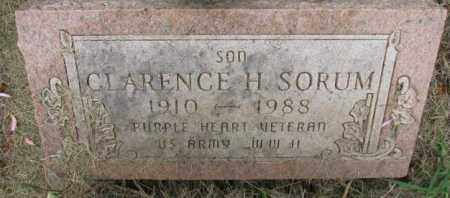 SORUM, CLARENCE H. - Lincoln County, South Dakota   CLARENCE H. SORUM - South Dakota Gravestone Photos