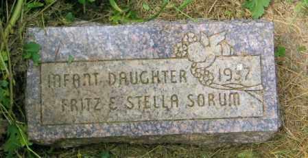 SORUM, INFANT GIRL - Lincoln County, South Dakota | INFANT GIRL SORUM - South Dakota Gravestone Photos