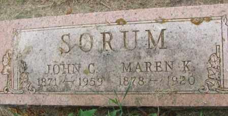 SORUM, JOHN C. - Lincoln County, South Dakota   JOHN C. SORUM - South Dakota Gravestone Photos