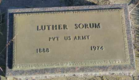 SORUM, LUTHER - Lincoln County, South Dakota   LUTHER SORUM - South Dakota Gravestone Photos