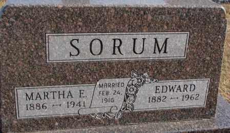 SORUM, MARTHA E. - Lincoln County, South Dakota | MARTHA E. SORUM - South Dakota Gravestone Photos