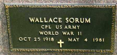 SORUM, WALLACE - Lincoln County, South Dakota   WALLACE SORUM - South Dakota Gravestone Photos