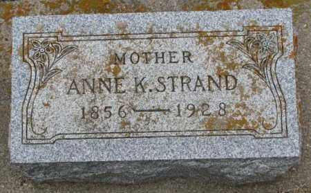 STRAND, ANNE K. - Lincoln County, South Dakota | ANNE K. STRAND - South Dakota Gravestone Photos