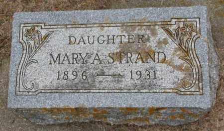 STRAND, MARY A. - Lincoln County, South Dakota   MARY A. STRAND - South Dakota Gravestone Photos
