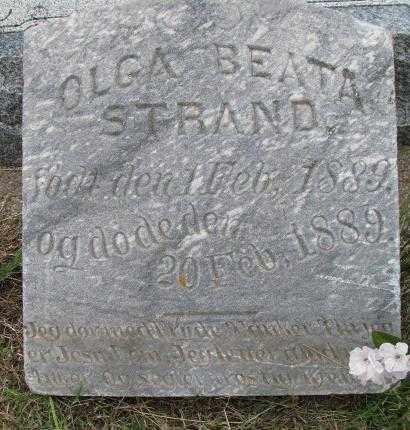 STRAND, OLGA BEATA - Lincoln County, South Dakota   OLGA BEATA STRAND - South Dakota Gravestone Photos