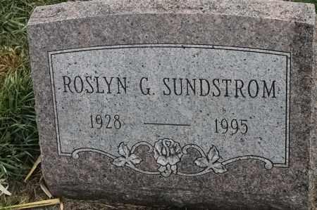 SUNDSTROM, ROSLYN G - Lincoln County, South Dakota | ROSLYN G SUNDSTROM - South Dakota Gravestone Photos