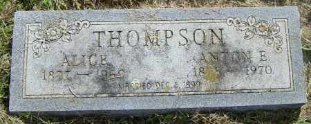 THOMPSON, ANTON E - Lincoln County, South Dakota | ANTON E THOMPSON - South Dakota Gravestone Photos