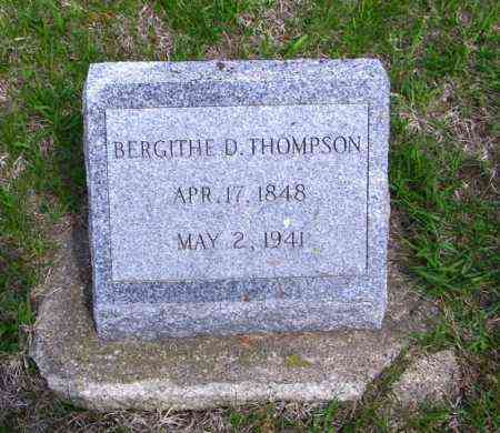 THOMPSON, BERGITHE D - Lincoln County, South Dakota | BERGITHE D THOMPSON - South Dakota Gravestone Photos