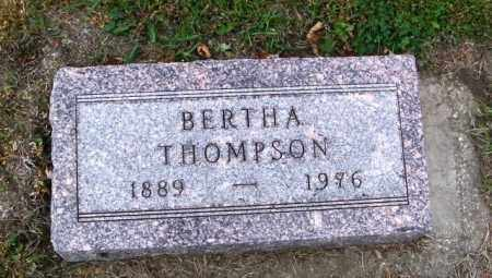 THOMPSON, BERTHA - Lincoln County, South Dakota | BERTHA THOMPSON - South Dakota Gravestone Photos