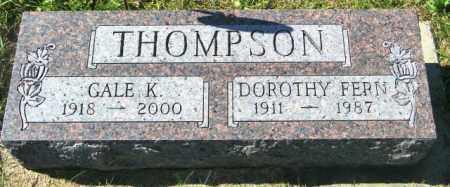 THOMPSON, GALE K. - Lincoln County, South Dakota | GALE K. THOMPSON - South Dakota Gravestone Photos