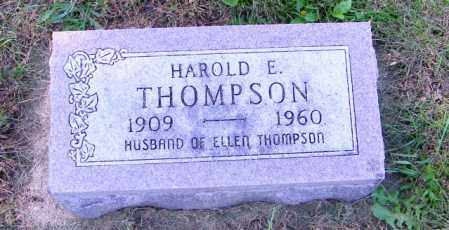THOMPSON, HAROLD E. - Lincoln County, South Dakota | HAROLD E. THOMPSON - South Dakota Gravestone Photos
