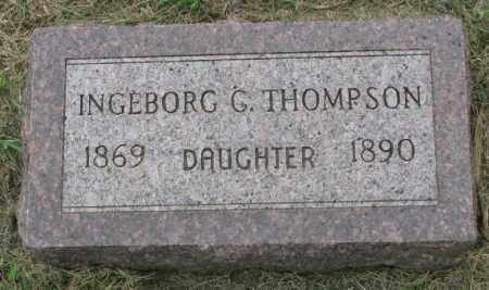 THOMPSON, INGEBORG G. - Lincoln County, South Dakota | INGEBORG G. THOMPSON - South Dakota Gravestone Photos