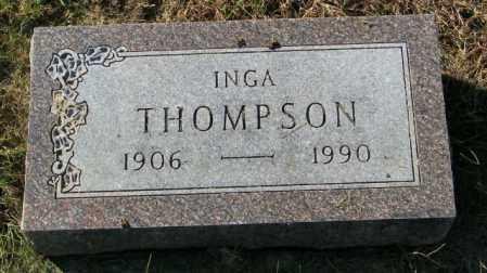 THOMPSON, INGA - Lincoln County, South Dakota | INGA THOMPSON - South Dakota Gravestone Photos