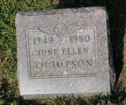 THOMPSON, JUNE ELLEN - Lincoln County, South Dakota | JUNE ELLEN THOMPSON - South Dakota Gravestone Photos