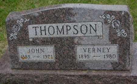 THOMPSON, VERNEY - Lincoln County, South Dakota | VERNEY THOMPSON - South Dakota Gravestone Photos