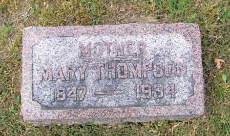 THOMPSON, MARY - Lincoln County, South Dakota   MARY THOMPSON - South Dakota Gravestone Photos