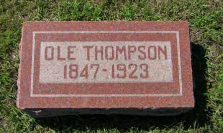 THOMPSON, OLE - Lincoln County, South Dakota | OLE THOMPSON - South Dakota Gravestone Photos