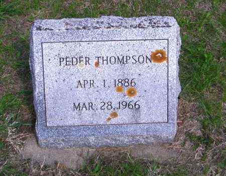 THOMPSON, PEDER - Lincoln County, South Dakota   PEDER THOMPSON - South Dakota Gravestone Photos