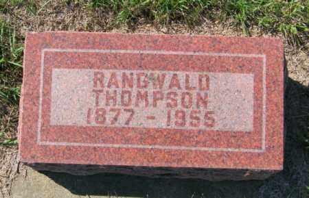 THOMPSON, RANGWALD - Lincoln County, South Dakota   RANGWALD THOMPSON - South Dakota Gravestone Photos