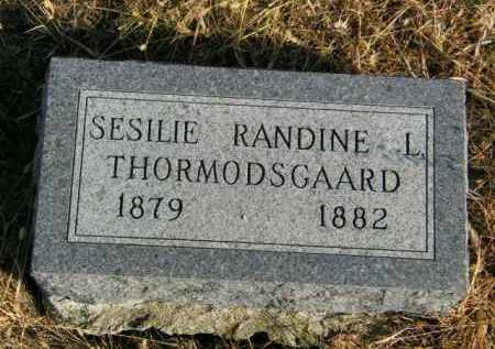 THORMODSGAARD, SESILIE RANDINE L - Lincoln County, South Dakota   SESILIE RANDINE L THORMODSGAARD - South Dakota Gravestone Photos