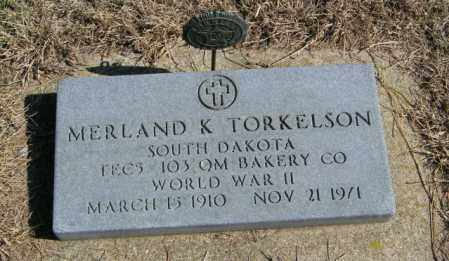 TORKELSON, MERLAND K - Lincoln County, South Dakota | MERLAND K TORKELSON - South Dakota Gravestone Photos