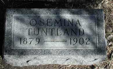 TUNTLAND, OSEMINA - Lincoln County, South Dakota | OSEMINA TUNTLAND - South Dakota Gravestone Photos