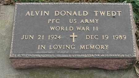 TWEDT, ALVIN DONALD - Lincoln County, South Dakota | ALVIN DONALD TWEDT - South Dakota Gravestone Photos