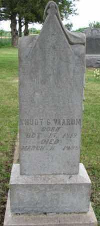 VAARUM, KNUDT G. - Lincoln County, South Dakota   KNUDT G. VAARUM - South Dakota Gravestone Photos