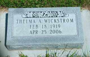 ARNE WICKSTROM, THELMA A. - Lincoln County, South Dakota | THELMA A. ARNE WICKSTROM - South Dakota Gravestone Photos