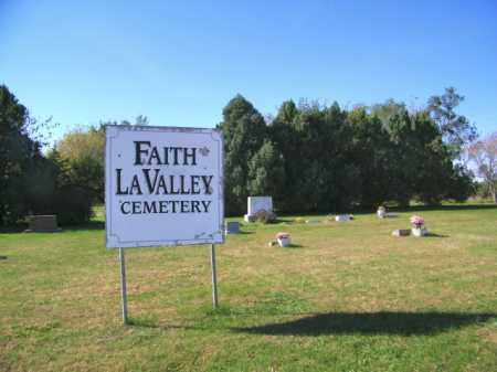 *FAITH LAVALLEY -, WIDE VIEW - Lincoln County, South Dakota | WIDE VIEW *FAITH LAVALLEY - - South Dakota Gravestone Photos
