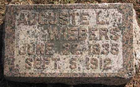 WIEBERS, AUGUSTE L. - Lincoln County, South Dakota | AUGUSTE L. WIEBERS - South Dakota Gravestone Photos