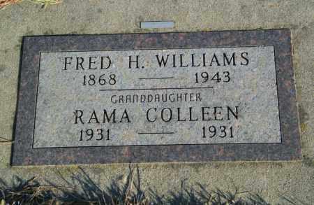 WILLIAMS, FRED H - Lincoln County, South Dakota | FRED H WILLIAMS - South Dakota Gravestone Photos