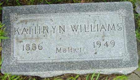 WILLIAMS, KATHRYN - Lincoln County, South Dakota   KATHRYN WILLIAMS - South Dakota Gravestone Photos
